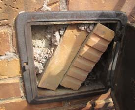 Chimney Ash Clean-Out Clogged as found during a Horn Lake Home ...